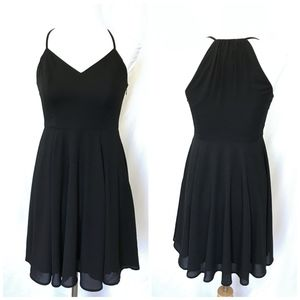 Express Black Spaghetti Strap Short Dress